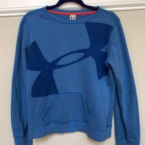 Blue Under Armour Crew Neck Sweatshirt
